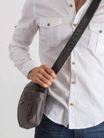 Ciemnoszara męska torba na ramię                                  zdj.                                  3