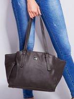 Ciemnoszara miękka torba w miejskim stylu                                  zdj.                                  1