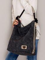 Ciemnoszara torba z bocznymi suwakami                                  zdj.                                  4