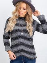 Ciemnoszary sweter Melanie                                  zdj.                                  6