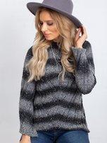 Ciemnoszary sweter Melanie                                  zdj.                                  7