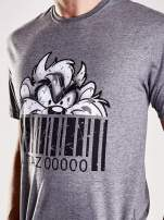 Ciemnoszary t-shirt męski LOONEY TUNES                                                                          zdj.                                                                         6