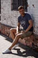 Ciemnoszary t-shirt męski z napisem BROOKLYN ATHLETIC UNIVERSITY                                  zdj.                                  6
