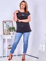 Ciemnoszary t-shirt z printem PLUS SIZE                                  zdj.                                  4