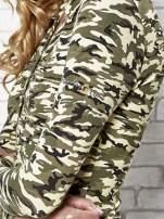 Ciemnozielona bluzka z motywem moro