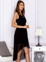 Czarna asymetryczna sukienka maxi                                  zdj.                                  3