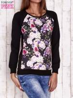 Czarna bluza z motywem róż                                  zdj.                                  3