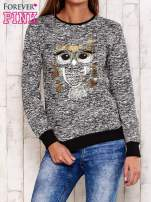 Czarna bluza z motywem sowy                                  zdj.                                  1