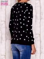 Czarna bluza z nadrukiem jabłuszka                                                                          zdj.                                                                         3