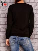 Czarna bluza z nadrukiem moro                                  zdj.                                  4