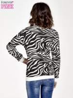 Czarna bluza z nadrukiem zebra print                                  zdj.                                  4