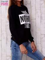 Czarna bluza z napisem I HAVE NOTHING TO WEAR                                                                          zdj.                                                                         2