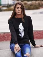 Czarna bluza z piórkiem                                                                          zdj.                                                                         1