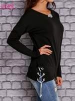 Czarna bluza z wiązaniami                                   zdj.                                  3