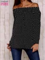 Czarna bluzka w groszki                                  zdj.                                  2