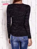 Czarna bluzka z nadrukiem boho                                                                          zdj.                                                                         4