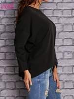 Czarna bluzka z rękawem nietoperz                                  zdj.                                  2