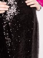 Czarna cekinowa sukienka z transparentną górą                                  zdj.                                  5