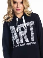 Czarna damska bluza z kapturem i napisem ART                                  zdj.                                  6