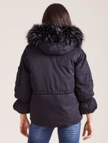 Czarna damska kurtka na zimę                                  zdj.                                  2