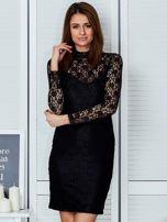 Czarna elegancka koronkowa sukienka                                  zdj.                                  1