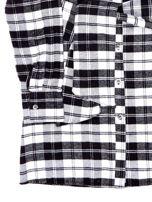 Czarna flanelowa sukienka dla dziewczynki w kratę                                  zdj.                                  4