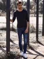Czarna gładka koszulka męska longsleeve