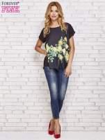 Czarna koszula z motywem kwiatów                                  zdj.                                  2