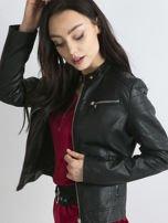 Czarna kurtka damska biker w motocyklowym stylu                                   zdj.                                  3