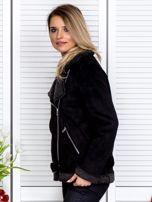 Czarna kurtka z kożuszkiem                                   zdj.                                  5
