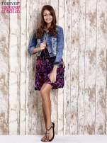 Czarna kwiatowa sukienka z kolorowymi troczkami                                                                          zdj.                                                                         2