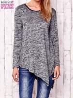 Czarna melanżowa asymetryczna bluzka                                  zdj.                                  1