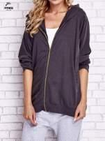 Czarna melanżowa bluza oversize                                  zdj.                                  1