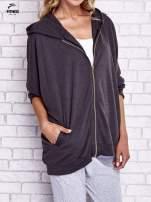 Czarna melanżowa bluza oversize                                  zdj.                                  3