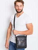 Czarna męska torba z kieszeniami                                  zdj.                                  2
