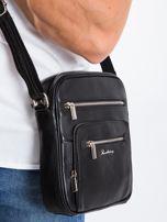 Czarna męska torba z kieszeniami                                  zdj.                                  5