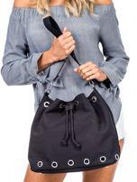 Czarna miękka torba ze ściągaczem                                  zdj.                                  1