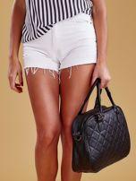 Czarna pikowana torba z ekoskóry                                  zdj.                                  8