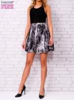 Czarna siatkowa sukienka z grafitowym dołem                                  zdj.                                  4