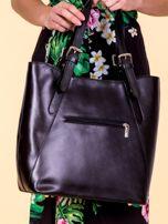 Czarna skórzana torba shopper bag                                  zdj.                                  3