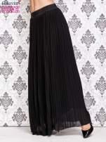 Czarna spódnica maxi z ornamentowym paskiem                                  zdj.                                  2
