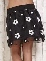 Czarna spódnica mini w kwiaty                                  zdj.                                  5