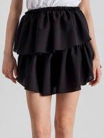 Czarna spódnica mini z falbanami                                  zdj.                                  1