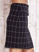 Czarna spódnica z graficznym wzorem i suwakami                                  zdj.                                  5
