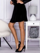 Czarna spódnica z weluru                                  zdj.                                  2