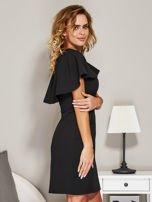 Czarna sukienka koktajlowa z narzutką                                  zdj.                                  3