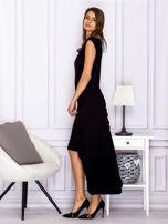 Czarna sukienka maxi z dłuższym tyłem                                  zdj.                                  5