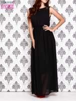 Czarna sukienka maxi z koronkowym tyłem                                  zdj.                                  1