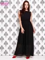 Czarna sukienka maxi z koronkowym tyłem                                                                          zdj.                                                                         2
