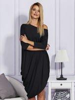 Czarna sukienka oversize                                   zdj.                                  1